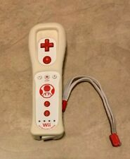 Nintendo Wii Remote Controller Toad White Motion Plus w/ Skin Wii U