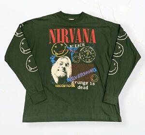 Vintage Nirvana t shirt Long Sleeve 1994 Rare 90s Shirt Kurt Cobain