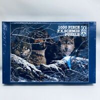 Jigsaw Puzzle NEW 1000 Piece S Sealed In Box Wolf Mountain Man Wolves FX Schmid