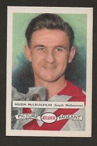 1958 ATLANTIC VFL Footballers   SOUTH MELBOURNE   Hugh McLaughlin  No 96   Exc.