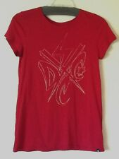 DC Ladies Medium T Shirt in Red with DC Graphic on Front - Worn Once!