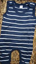 WELLYOU Strampler Overall Einteiler blau weiß Ringel maritim 56-86 Ökotex *NEU*