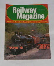 RAILWAY MAGAZINE MARCH 1981 - FRENCH HST/NORWICH-BIRMINGHAM INTER-CITY