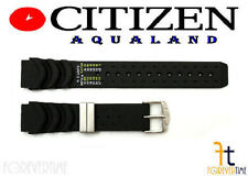Citizen Aqualand JP3020-05E 20mm Black Rubber Watch Band BJ2010-05E BJ2014-04E