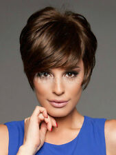 New Sexy Women Short Dark Brown Straight Hair Lady Cosplay Daily Party Full Wigs