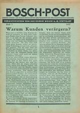Bosch-Post 3/37 1937 Kerzenliste Wischer Scheinwerfer Broschüre Auto Technik