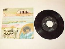 "DANIELA DAVOLI ""MIA/DIVERTIMENTO"" disco 45 giri ARIS Italy 1978 MALGIOGLIO"