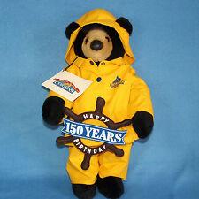 """Gortons Fish 150 Years Bear Yellow Raincoat 18"""" Plush Fisherman Happy Birthday"""
