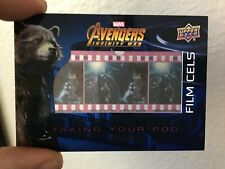 2018 UPPER DECK MARVEL AVENGERS INFINITY WAR ROCKET FILM CELS SP #FC15 THOR