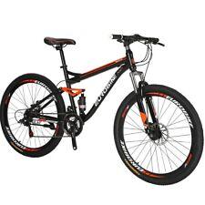 "S7 27.5"" Full Suspension Mountain Bike Shimano 21 Speed Disc Brakes Mens Bicycle"