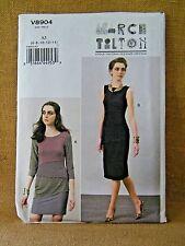 VOGUE PATTERN 8904  DRESSES  EASY  DESIGNER  MISSES SIZES 6 8 10 12 14  UNCUT