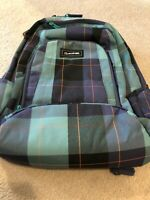 New Dakine Frankie 26L Backpack Bookbag Blue Plaid Aquamarine