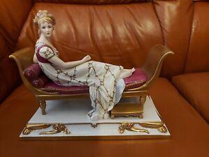 Porzellan Figur-Madame Recamiere, Scheibe-Alsbach -25 cm