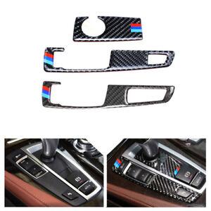 Carbon Fiber Gear Shift Handle Frame Base Cover Trim For BMW 5 Series F10 F25 26