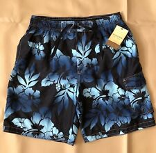 296edac4e1 Sonoma Men's Swimwear 5-pocket Swim-trunks Blue Tropical Floral Size L