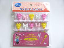 New!! Disney Minnie Mouse KAWAII Food Picks Bento Accessories FREE SHIPPING