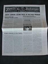 ZENITH Radiorgan The National Field Newspaper For ZENITH Men & Women Everywhere