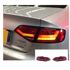 LED Tail Lights For Audi a4 2009-2012 Sequential Signal Smoke/Red Replace OEM