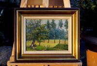 schönes Ölgemälde Landschaftsbild mit Kühen signiert C. Verschuur Künstlerarbeit