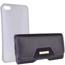 Marware ABCU11 C.E.O. Prestige Plus Leather Hip Case + Bonus Clear Shell Case