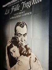 LA FOLLE INGENUE Charles Boyer affiche cinema Ernst Lubitsch