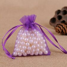 50 100 Luxury Organza Gift Candy Bags Jewellery Pouches Wedding Party Favor
