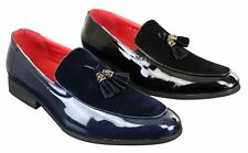Mens Tassel Patent Shiny PU Suede Leather Driving Shoes Loafers Smart Casual