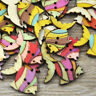 New 50/100pcs Colorful fish Wood Buttons 27*19mm Sewing Craft Lots WB224