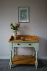 Farmhouse Pine Country Wash Stand Console Table