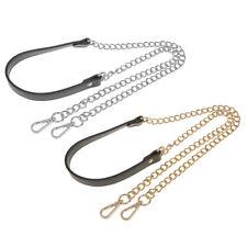 2pcs Replacement Chain+PU Leather Shoulder Crossbody Strap for Bag Handbag