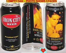 IBF BOXING PITTSBURGH KID PAUL SPADAFORA LIGHTWEIGHT WORLD CHAMP BEER CAN SPORTS