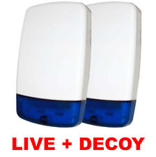 Intruder Burglar Alarm Live Bell Box External Sounder Siren & Decoy Dummy Box