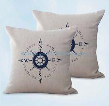 US SELLER, 2pcs cheap home decor items sailing compass cushion cover