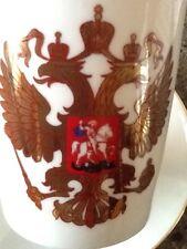 Russian IMPERIAL Lomonosov Porcelain Mug & Saucer