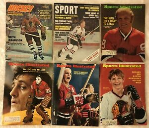1968 Sports Illustrated Lot of 6 CHICAGO BLACKHAWKS Bobby HULL Keith MAGNUSON