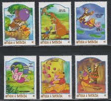 ANTIGUA & BARBUDA - DISNEY - CARTOONS - WINNIE THE POOH - COMPLETE SET MNH