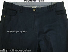 Womens Marks and Spencer Classic Dark Blue Trousers Size 20 18 Short 18 Short 27l