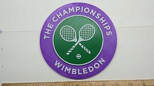 "Wimbledon ""The Championships"" 3D Tennis Logo - Emblem, Ornament, Magnet!!"