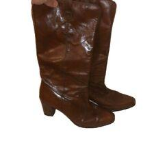 Pierre Cardin Of Paris Womens Vintage Brown Leather Boots 8.5