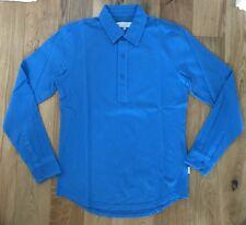 Orlebar Brown Mens Sebastian Long Sleeve Tailored Pique Polo Blue Medium New