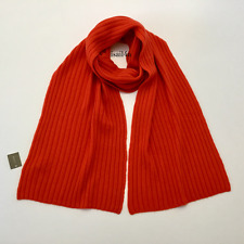 J. Crew Collection Ribbed Cashmere Scarf NWT Color: Fiery Sunset