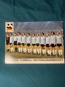 1974 Rare Soccer Deutsche Fussball Nationalmann Schaft Germany Soccer Postcard