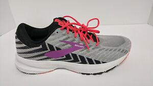 Brooks Launch 6 Running Shoes, Grey/Black/Purple, Women's 10 Wide