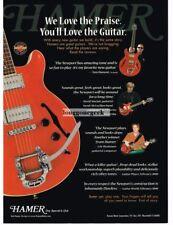 2000 HAMER Newport Electric Guitar Vtg Print Ad