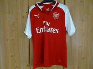 Arsenal Men's Home Shirt 2017-18 Size Medium Puma