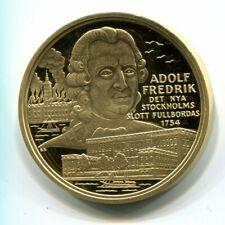 Table medal E42 Sweden King Adolf Fredrik  (diam 35 mm)