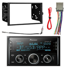 Pioneer 2DIN Receiver w/ Bluetooth w/ Dash Kit, Antenna Adapter & Wiring Harness