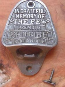 SOLID CAST IRON WALL MOUNTED BOTTLE OPENER SPITFIRE KENTISH ALE MAN CAVE DEN
