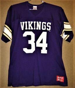 MINNESOTA VIKINGS HERSCHEL WALKER #34 PURPLE NFL Rawlings Size XL JERSEY