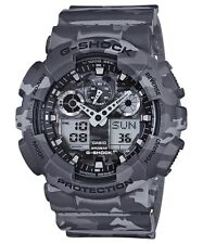Casio G-Shock Analogue/Digital Mens Camouflage Series Grey Watch GA-100CM-8ADR